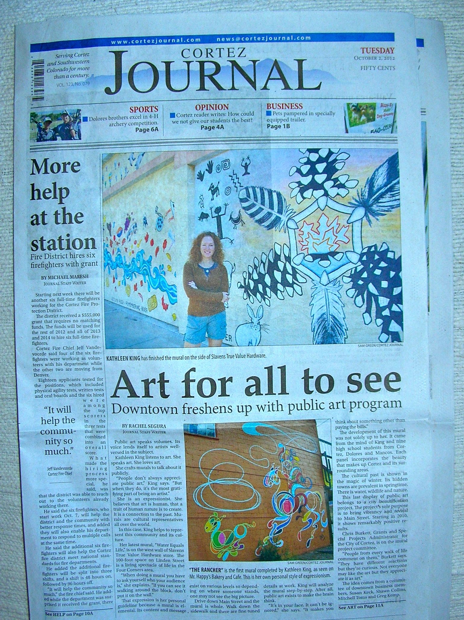 Front page Cortez Journal
